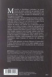 Versailles-Le Pouvoir De La Pierre - 4ème de couverture - Format classique