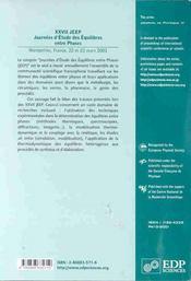 Xxvii Jeep Journees D'Etude Des Eqilibres Entre Phases - 4ème de couverture - Format classique