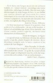 La Montagne De L'Ame - 4ème de couverture - Format classique