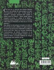 Chine Histoire De La Litterature - 4ème de couverture - Format classique