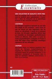 Therapies Cognitives N.10 (Les) - 4ème de couverture - Format classique