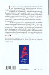 Architecture Et Communication - 4ème de couverture - Format classique