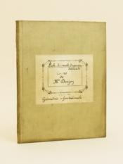 Géométrie infinitésimale. Cours de Mr. Denjoy Ecole Normale Supérieure [ Manuscrit d'un élève de l'Ecole Normale Supérieure vers 1936 - 1938 ] - Couverture - Format classique