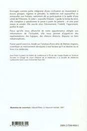 Initiation A Une Nouvelle Histoire De La Medecine - 4ème de couverture - Format classique