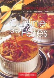 Cuisiner Aujourd'Hui ; Cuisine De Fetes - Intérieur - Format classique