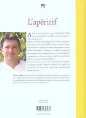 Aperitif, 200 Recettes A Boire Et A Grignoter - 4ème de couverture - Format classique