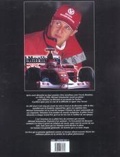 Michael Schumacher ; Itineraire D'Un Surdoue - 4ème de couverture - Format classique