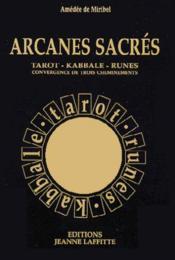 Arcanes Sacrees - Couverture - Format classique