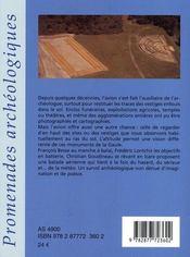 Promenade archéologique en Gaule - 4ème de couverture - Format classique