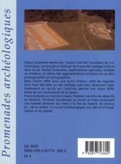 Promenade Archeologique En Gaule - 4ème de couverture - Format classique