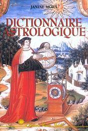 Dictionnaire astrologique - Intérieur - Format classique