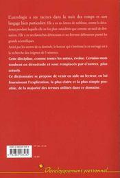 Dictionnaire astrologique - 4ème de couverture - Format classique