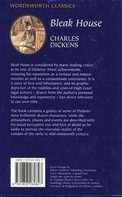 Bleak House - 4ème de couverture - Format classique