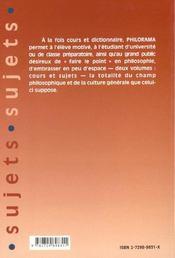 Philorama Sujets 243 Sujets Corriges - 4ème de couverture - Format classique