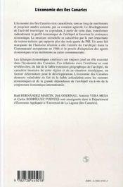 L'Economie Des Iles Canaries - 4ème de couverture - Format classique