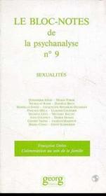 Bloc-Notes De La Psychanalyse N 9 Sexuali - Couverture - Format classique