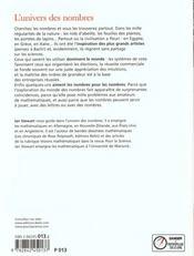 L' Univers Des Nombres - 4ème de couverture - Format classique