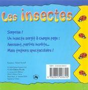 Mini pop-up ; les insectes - 4ème de couverture - Format classique