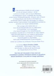 Les douleurs chroniques et les maladies neurologiques centrales - 4ème de couverture - Format classique