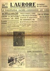 Aurore (L') N°521 du 20/04/1946 - Couverture - Format classique