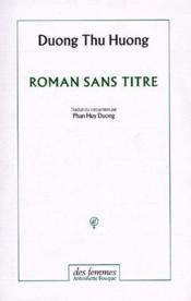 Roman sans titre - Couverture - Format classique