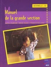 Manuel De La Grande Section - Intérieur - Format classique