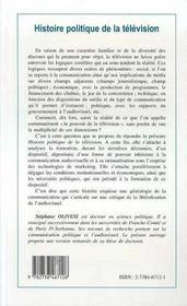 Histoire Politique De La Television - 4ème de couverture - Format classique