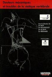 Douleurs mécaniques et troubles de la statique vertébrale - Couverture - Format classique
