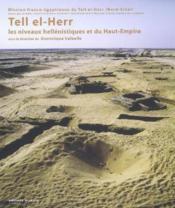 Tell El-Herr Les Niveaux Hellenistiques Et Du Haut-Empire - Couverture - Format classique