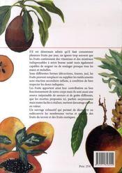 L'encyclopédie des fruits - 4ème de couverture - Format classique