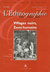 Revue De La Societe D'Ethnographie Paris N.2 ; Villages Noirs, Zoos Humains - Couverture - Format classique