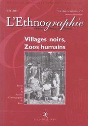 Revue De La Societe D'Ethnographie Paris N.2 ; Villages Noirs, Zoos Humains - Intérieur - Format classique