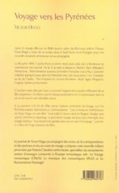 Voyage vers les Pyrénées - 4ème de couverture - Format classique
