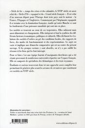 Les sociétés anglaise, espagnole, française au XVII siècle - 4ème de couverture - Format classique