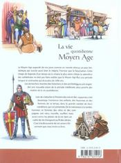 La Vie Quotidienne Au Moyen Age - 4ème de couverture - Format classique