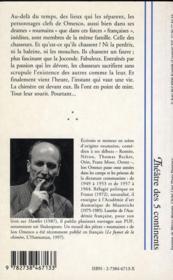 L'Homme Qui Se Dit Lenine ; Comme Des Cafards Sur Un Plafond Laque ; Confectionner Un Demi-Dieu ; Trois Farces Tragiques - 4ème de couverture - Format classique