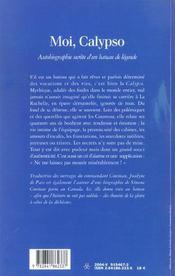 Moi, Calypso ; autobiographie secrète d'un bateau de légende - 4ème de couverture - Format classique