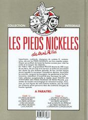 Les pieds nickelés ; intégrale t.12 - 4ème de couverture - Format classique