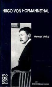 H. Von Hofmannsthal - Couverture - Format classique