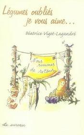 Légumes oubliés, je vous aime - Intérieur - Format classique