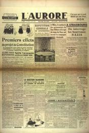 Aurore (L') N°524 du 24/04/1946 - Couverture - Format classique