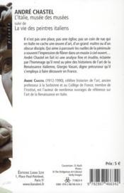 L'Italie, musée des musées - 4ème de couverture - Format classique