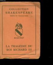 La Tragedie Du Roi Richard Iii - Couverture - Format classique