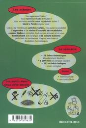Giochi E Parole Apprendre Et Reviser Son Vocabulaire Italien En S'Amusant Niveau 1 - 4ème de couverture - Format classique