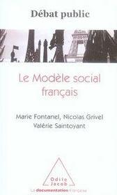 Le modèle social français - Intérieur - Format classique