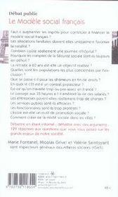Le modèle social français - 4ème de couverture - Format classique