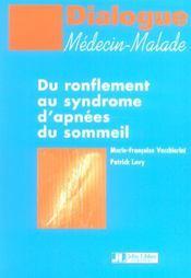 Du Ronflement Au Syndrome D'Apnees Du Sommeil - Intérieur - Format classique