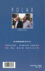 Revue Polar Numero 20 - 4ème de couverture - Format classique