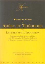 Adele ou theodore. ou lettres sur l education - Intérieur - Format classique