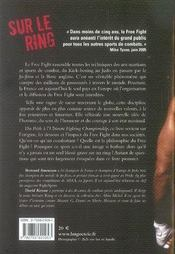 Sur le ring ; l'histoire vraie du free fight - 4ème de couverture - Format classique
